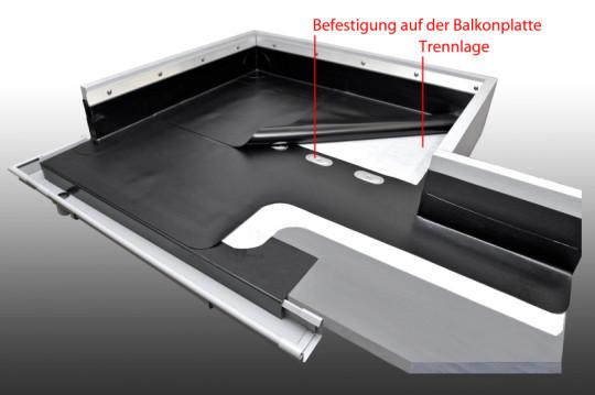 Mechanische Befestigung einer PVC-Abdichtungsbahn
